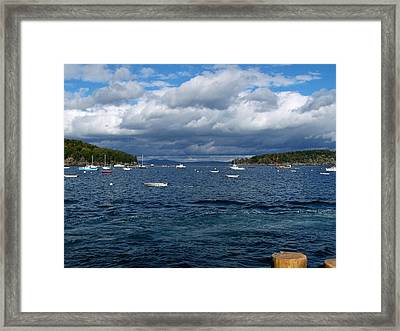 Framed Print featuring the photograph Bar Harbor Me by Gene Cyr
