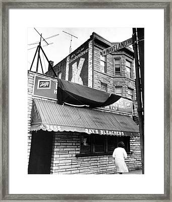 Bar Outside Wrigley  Framed Print