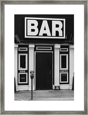 Framed Print featuring the photograph Bar by Rodney Lee Williams