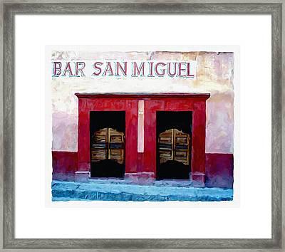 Bar San Miguel Framed Print by Britton Britt Cagle