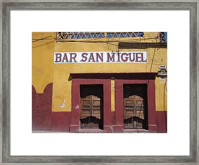 Bar San Miguel Framed Print by Marianne Werner
