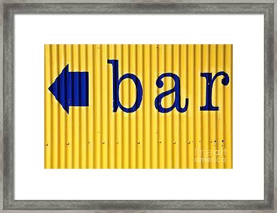 Bar Sign Framed Print by Sophie Vigneault