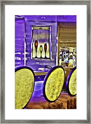Bar Stools Framed Print