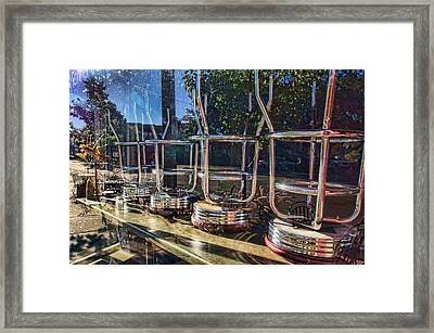 Bar Stools Up Framed Print by Daniel Sheldon