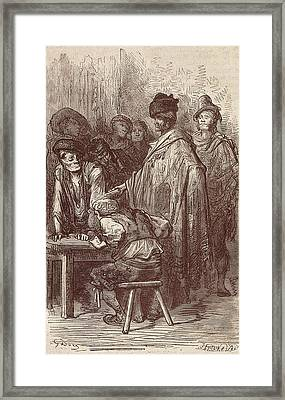 Bar Un Madrid. Illustration Framed Print by Everett