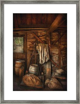Bar - Weighing The Hops Framed Print by Mike Savad