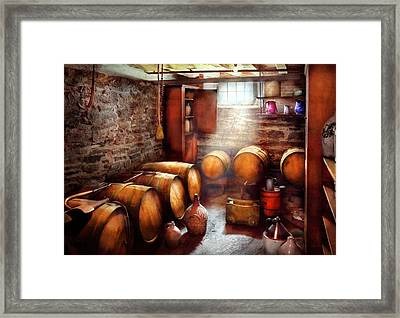 Bar - Wine - The Wine Cellar  Framed Print