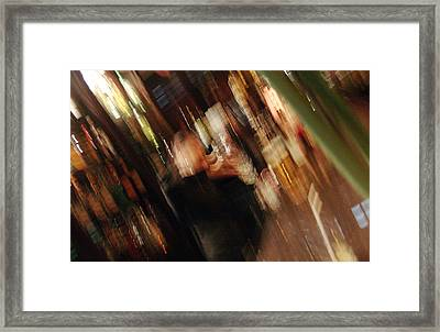 bar with Lucy Framed Print by Mieczyslaw Rudek Mietko