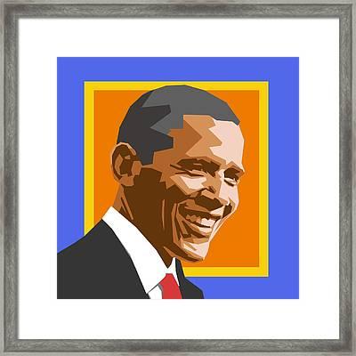 Barack Framed Print by Douglas Simonson