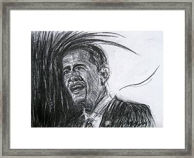 Barack Obama 1 Framed Print by Michael Morgan
