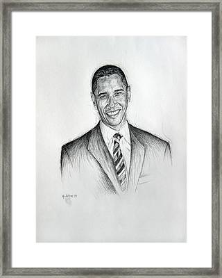 Barack Obama 2 Framed Print
