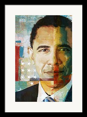 Art Of Barack Obama Framed Prints