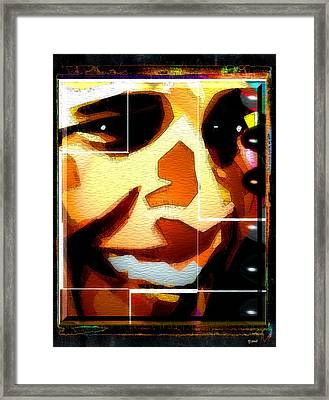 Barack Obama Framed Print by Daniel Janda