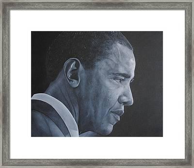 Barack Obama Framed Print by David Dunne