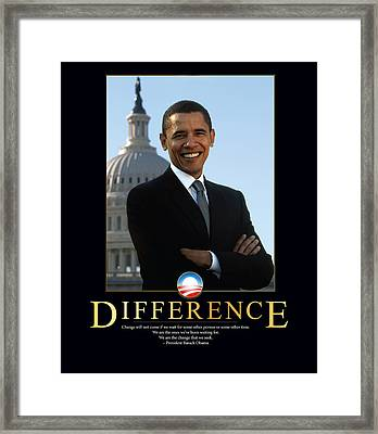 Barack Obama Difference Framed Print