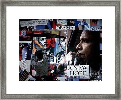 Barack Obama Framed Print by Isis Kenney