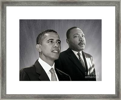 Barack Obama  M L King  Framed Print
