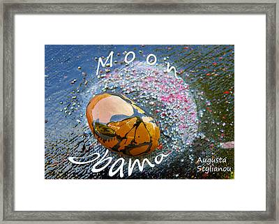 Barack Obama Moon Framed Print by Augusta Stylianou