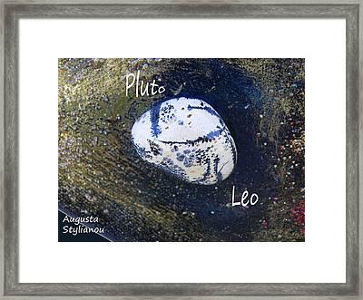 Barack Obama Pluto Framed Print by Augusta Stylianou