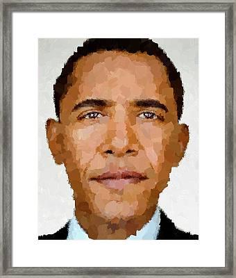 Barack Obama Framed Print by Samuel Majcen