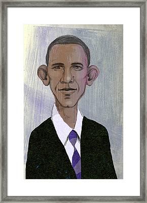 Barack Obama Framed Print by Steve Dininno