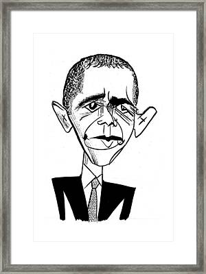 Barack Obama Suit & Tie Framed Print