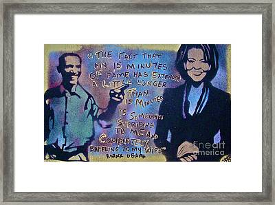 Barack With Michelle Framed Print