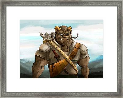 Framed Print featuring the painting Baragh The Hoargg Warrior by Reynold Jay