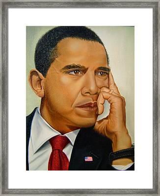 Barak H. Obama Framed Print by Yechiel Abramov