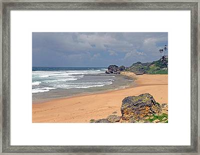 Barbados Countrysiide Meets The Ocean Framed Print