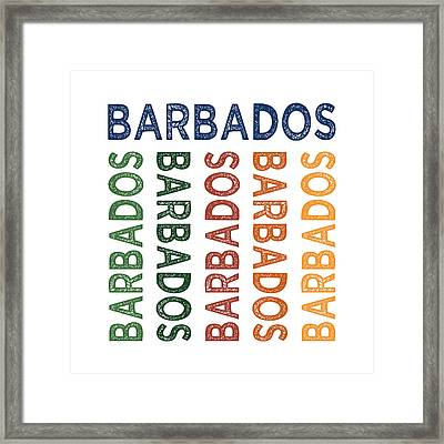 Barbados Cute Colorful Framed Print by Flo Karp