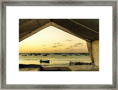 Framed Print featuring the photograph Barbados Fishing Boats In Oistens by Polly Peacock