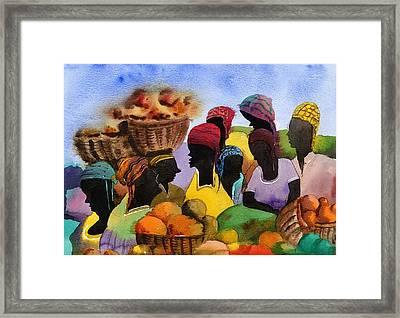 Barbados Market 1  Wi Framed Print