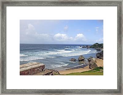 Barbados N Boulders Framed Print