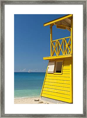 Barbados, Oistins, Lifeguards Tower Framed Print