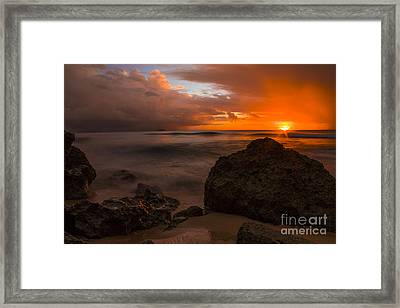 Barbados Sunset Framed Print