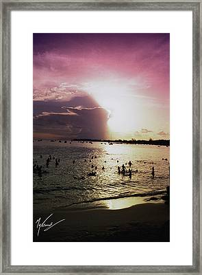 Barbados Sunset Framed Print by Max CALLENDER