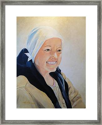 Framed Print featuring the painting Barbara by Alan Lakin