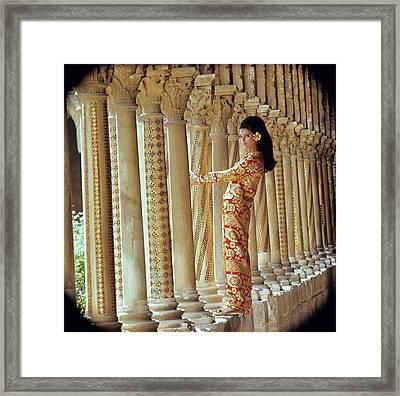 Barbara Bach In Monreale Framed Print