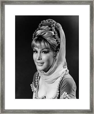 Barbara Eden - I Dream Of Jeannie  Framed Print by Mountain Dreams