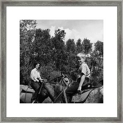 Barbara Mortimer And Son Tony Mortimer Framed Print