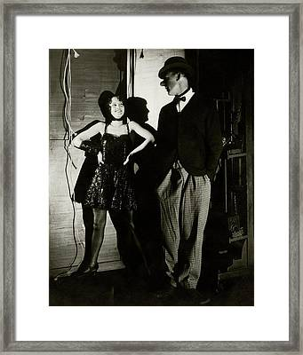 Barbara Stanwyck And Hal Skelly In Costume Framed Print by Edward Steichen