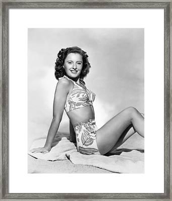 Barbara Stanwyck Framed Print by Granger