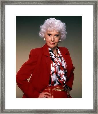 Barbara Stanwyck In The Colbys  Framed Print