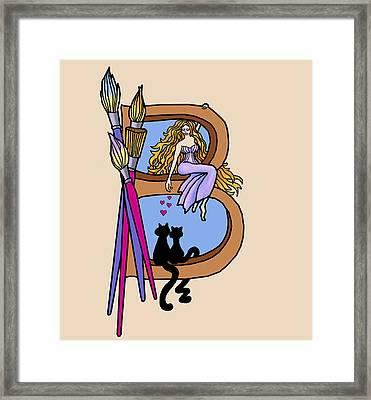 Barbara's Muse Framed Print