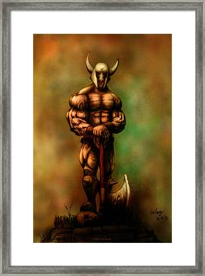 Barbarian King Framed Print
