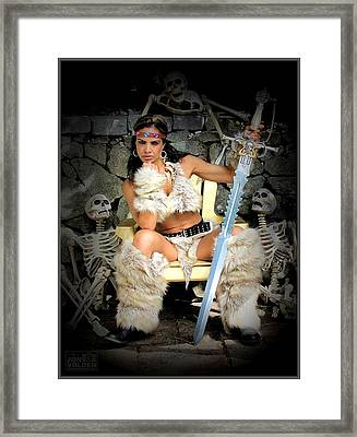 Barbarian Queen Framed Print