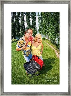 Barbecue Love Framed Print