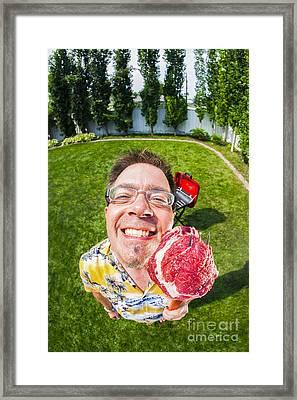 Barbecue Man Framed Print