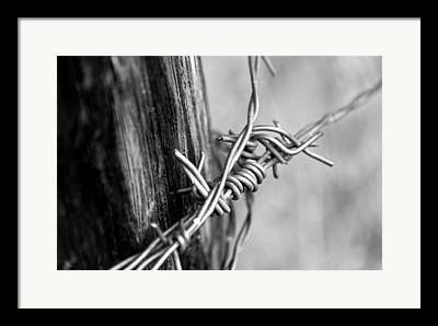 Barbed Wire Fences Mixed Media Framed Prints